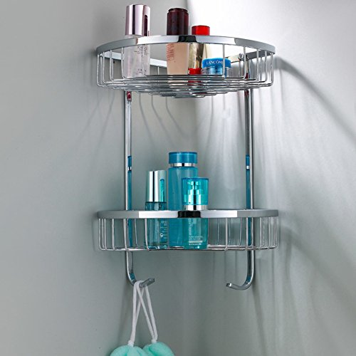 30%OFF Stainless steel triangular basket/ double corner basket/Basket/Shower corner baskets/Bathroom wire racks