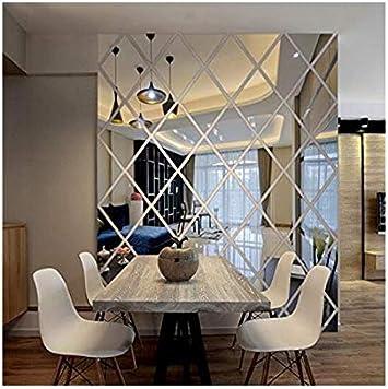 Diamanten Dreiecke Wand Kunst Acryl Spiegel Wandaufkleber Haus Dekoration  8D Diy Wandtattoos Kunst Für Wohnzimmer Wohnkultur, M, Ayzr