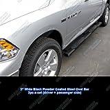 """Black 5"""" Nerf Bar FOR 09-17 DODGE RAM 1500 CREW CAB/10-17 2500/3500 CREW CAB"""
