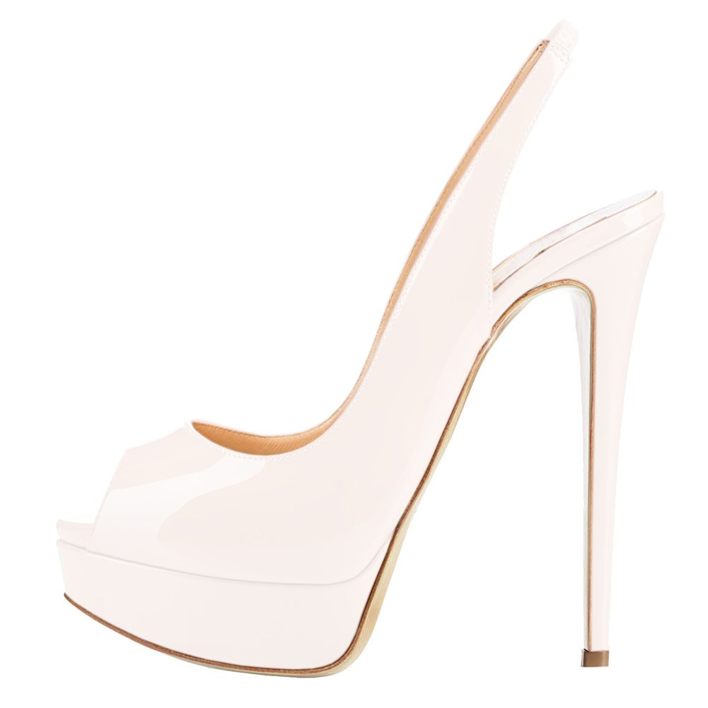 Slingbacks Peep Toe High Heels Shoes