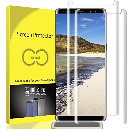 Galaxy Note 8 Screen Protector, 3D Full Screen Coverage Glass 9H [Curved] [Bubble-Free] [9H Hardness] [Anti-Scratch] Galaxy Note 8 Tempered Glass Screen Protectors for Samsung Galaxy Note 8 [2 Pack]