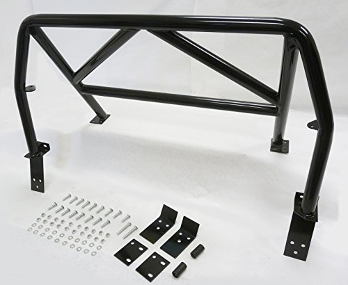 (OBX Racing Roll bar Sports 4-Point Roll Bar Black 90-97 Mazda Miata MX-5 Hard Core)