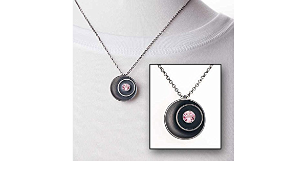unique necklace bezel necklace wrought recycled silver hot pink necklace October birthstone necklace Pink tourmaline necklace