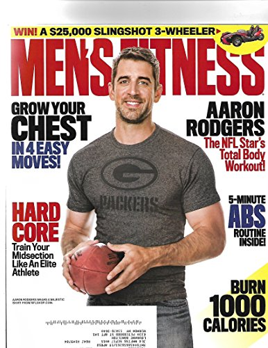 Mens Fitness Magazine September 2017   Aaron Rogers Cover