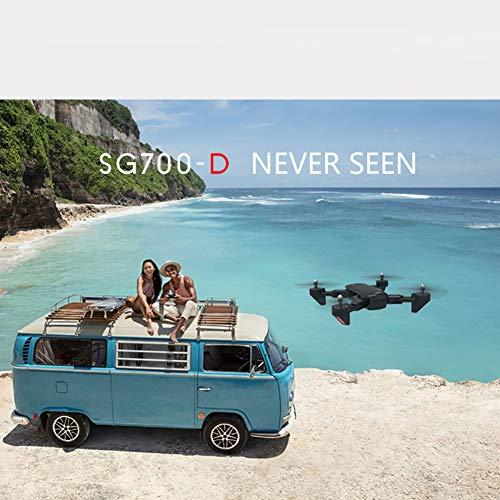 Drone avec Deux caméras 1080P HD WiFi FPV 2.4G Mini Telécommandé Quadcopter avec Mode Sans Tête, Transmission d'Images et Vidéo en Temps Réel, Durée Vol de 20 Minutes , SG700-D Quadricoptère