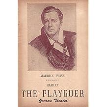 """Maurice Evans """"HAMLET"""" Doris Lloyd / Bernard Gersten 1947 San Francisco Playbill"""