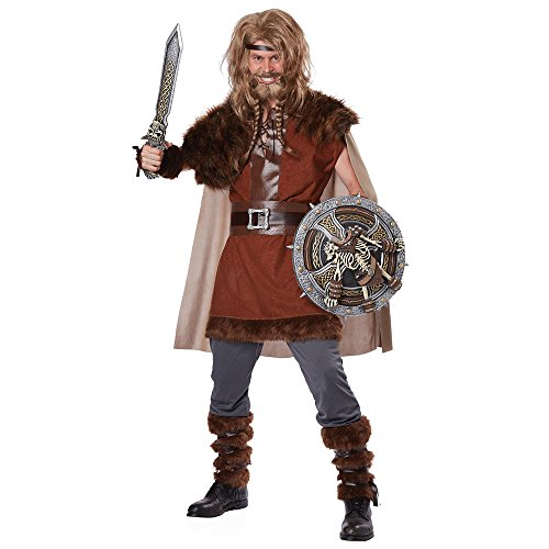 Viking Warrior Costumes - California Costumes Men's Mighty Viking Norse God, Brown, Large/X-Large