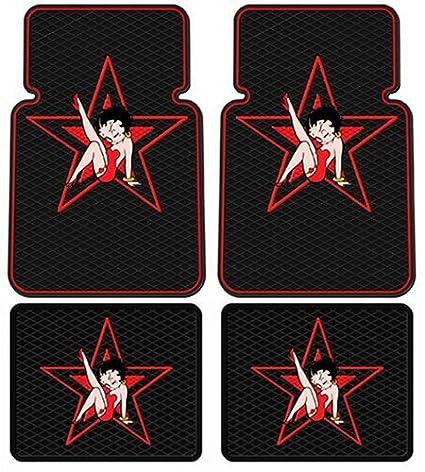 Betty Boop Star Design 4 Pc Floor Mats