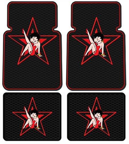 - Betty Boop Star Design - 4 Pc Floor Mats