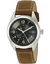 Hamilton Mens H68551833 Khaki Field Analog Quartz Brown Watch