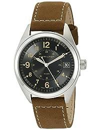 Hamilton Men's H68551833 Khaki Field Analog Display Swiss Quartz Brown Watch