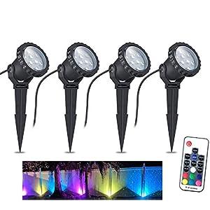 COVOART Color Changing LED Landscape Lights 12W Landscape Lighting IP66 Waterproof LED Garden Pathway Lights Walls Trees…