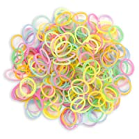 WGI Glow In The Dark Stretch Band Bracelet Loops and S-Clips (600 Loops and 24 S-Clip), Assorted