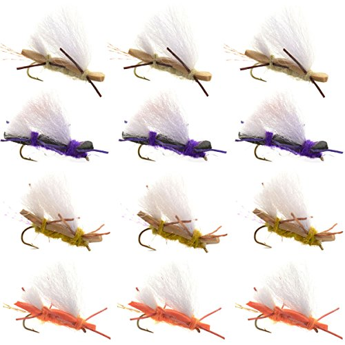 The Fly Fishing Place Chubby Chernobyl Ant Assortment Foam Body Fly Fishing Flies - 12 Flies Hook #10