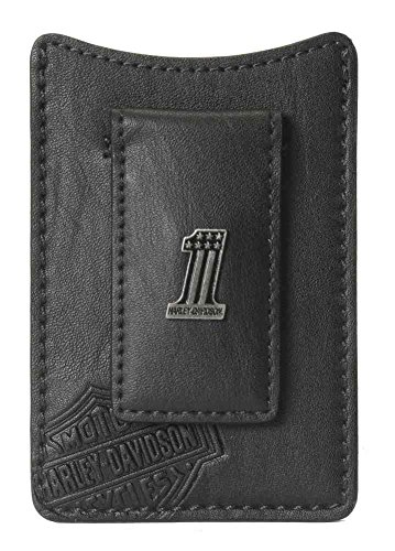 Harley Davidson Pocket Wallet Medallion CR2367L Black