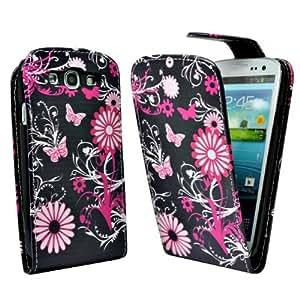Accessory Master B0097OBRK2 - Funda de piel con diseño de flores para Samsung Galaxy S3 I9300, multicolor