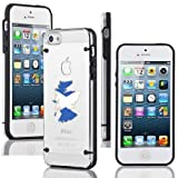 Apple iPhone 4 4s Ultra Thin Transparent Clear Hard TPU Case Cover Scotland Scottish Flag (Black)