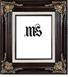 Imperial Frames 8 by 10-Inch/10 by 8-Inch Picture/Photo/Certificate Frame, Mahogany Molding with Rich Floral Designs with Gold and a Canvas Liner