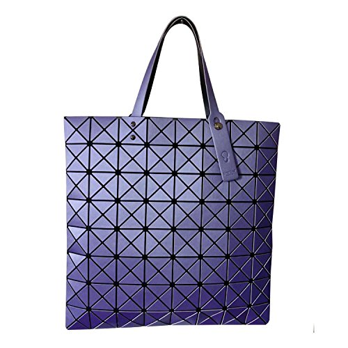 Mefly Plegado geométrico Bolso bandolera Lingge blanco purple