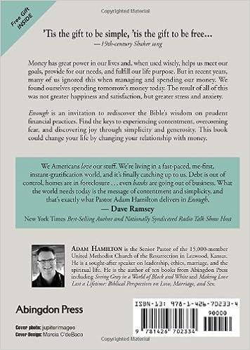Enough: Discovering Joy through Simplicity and Generosity: Adam ...