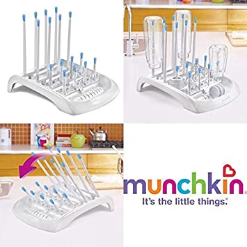 Munchkin Deluxe Infant and Baby Bottle//Cups//Pump Part Drying Rack Brand NEW!!!