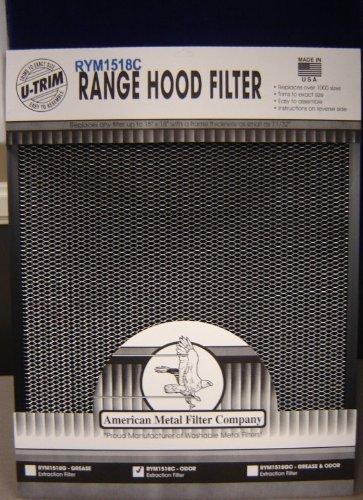 RYM 1518C Odor Extraction Range Hood Filter 18X15X11/32