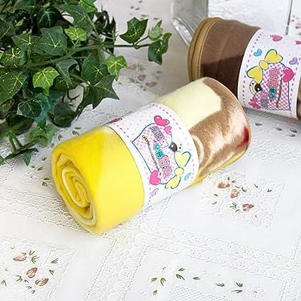 [oso de peluche – amarillo] coreano manta de forro polar Coral Mini bebé (