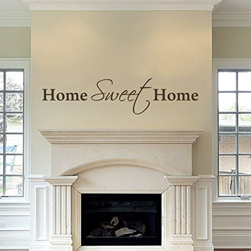MairGwall Family Home Removable Wall Sticker Decal Home&Living Decoration Art Vinyl Home Wall Quote Words Home Sweet Home£¨Large,Dark Brown£