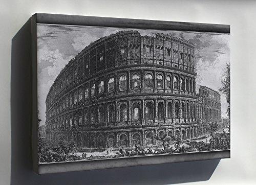 Canvas 24x36; Roman Colosseum In A 1757 Engraving By Giovanni Battista Piranesi