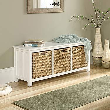 (Sauder 422754 Cottage Road Bench with Baskets, L: 43.94