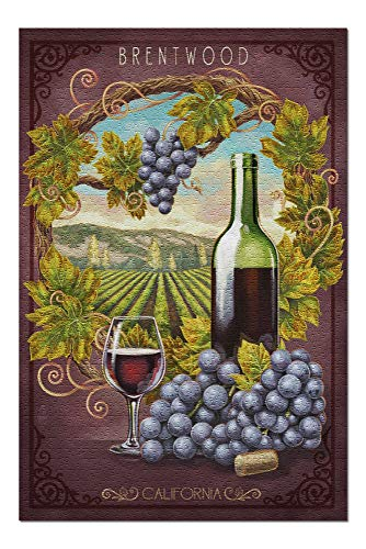 Brentwood, California - Merlot Wine Scene 99525 (20x30 Premium 1000 Piece Jigsaw Puzzle, Made in ()