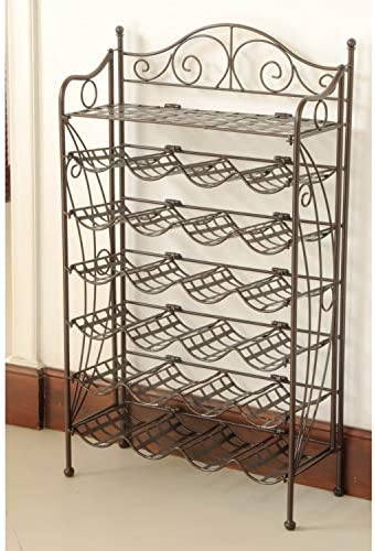 International Caravan Iron 24-Bottle Wine Rack