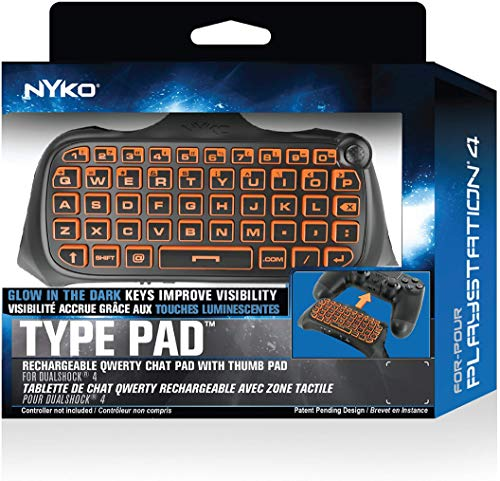 Nyko Type Pad - PlayStation 4 with Built-in Rechargeable...