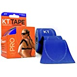 KT Tape Pro Kinesiology Therapeutic Sports Tape, 20 Precut 10 inch Strips, Sonic Blue