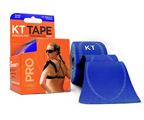 KT Tape Pro Kinesiology Therapeutic Sports Tape, 20 Precut 10 inch Strips, Sonic - Band Warranty Limited