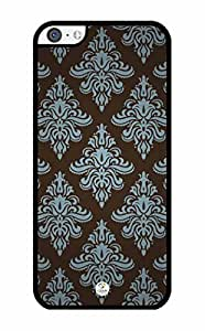 iZERCASE Damask Pattern Simple iPhone 5C RUBBER case - Fits iPhone 5C T-Mobile, AT&T, Sprint, Verizon and International