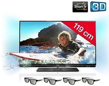 Televisor LED 3d 47PFL6007H/12 + Gafas 3d pasivas pta416 – Negro: Amazon.es: Electrónica