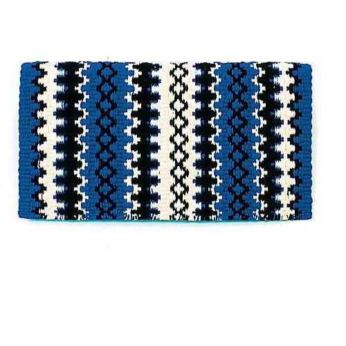 Mayatex Arroyo Seco Saddle Blanket, Royal Blue/Cream/Black