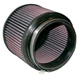 K&N RU-5109 Universal Clamp-On Air Filter: Round Tapered; 5 in (127 mm) Flange ID; 5 in (127 mm) Height; 6.5 in (165 mm) Base; 6.75 in (171 mm) Top