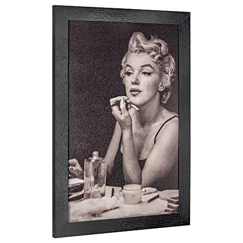 (Crystal Art Licensed Vintage Marilyn Monroe Framed Photo Portrait Wall Art, 19