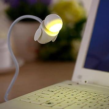 XLHXQ Encantador Robot Luz de noche USB Sensor tactil Ordenador portátil LED Lámpara , Yellow light: Amazon.es: Deportes y aire libre