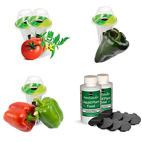 AeroGarden Tomato & Pepper Variety Seed Pod Kit (Aerogarden Pepper)