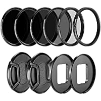 Neewer Camera Lens Filter Kit for GoPro Hero 5 and Hero 6: (4)Neutral Density ND Filter(ND4/ND8/ND16/ND32), (1)UV Filter, (1)CPL Filter, (2)Lens Cap, (2)Lens Adapter Ring