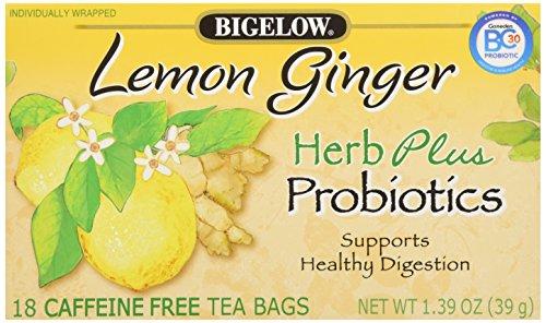 Bigelow Tea Herb Plus, Lemon Ginger, 18 ct
