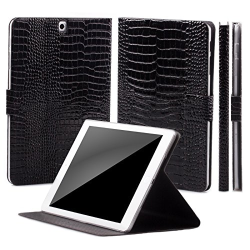 - iCues Case Compatible with Samsung Galaxy Tab S2 9.7 360° Rotating Stand Crocodile Caiman Black Manzano Cover Other Leather - and Color Variations Smart Wallet Flip Thin Ultra Slim