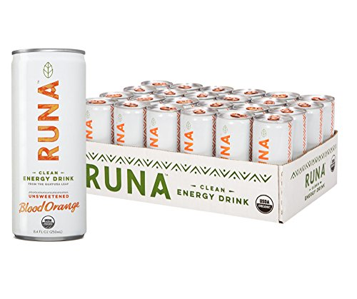 RUNA Organic Clean Energy Drink from the Guayusa Leaf, Blood Orange, 8.4 Ounce (Pack of 24) Blood Orange Tart