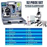 AmScope 120X-1200X 52-pcs Kids Beginner