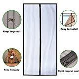 Magnetic Screen Door with Reinforced Mesh and Full Frame Hook and Loop FITS Door Size up to 39-82 inches
