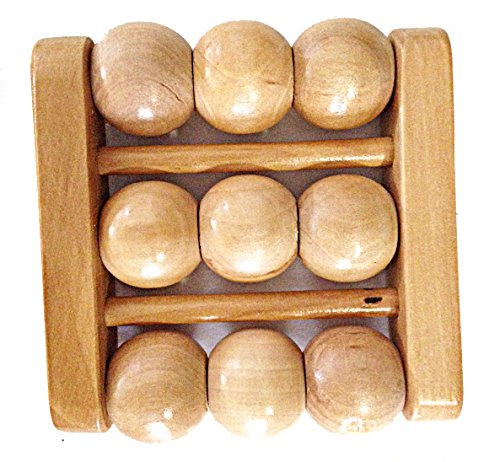 Wood Foot Massage therapy round ball Roller Massager