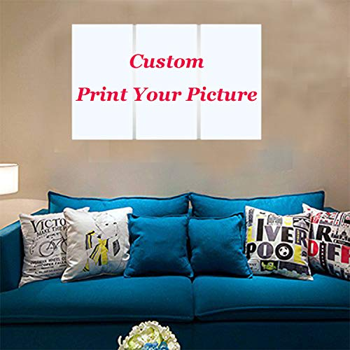 SW&IM 3 Pieces Modern Canvas Painting Wall Art Custom Canvas Prints with Your Photos for Home Decor Giclee Printing Paintings-Frameless
